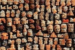 Mayan Mexico wood handcrafts in jungle Yucatan