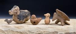 Mayan Pre Columbian bird whistles figurines made around 600-1000 AD.