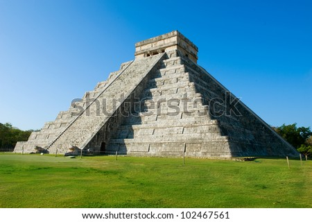 Mayan Pyramid Chichen Itza, Mexico - stock photo