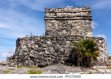 Mayan ruins at the archeological site of Tulum, Quintana Roo, Mexico.