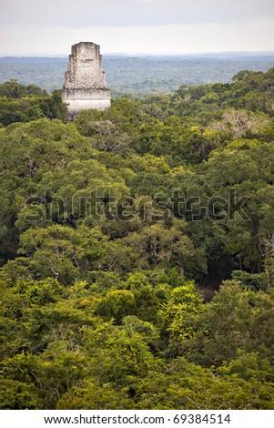 Mayan ruins at tikal guatemala