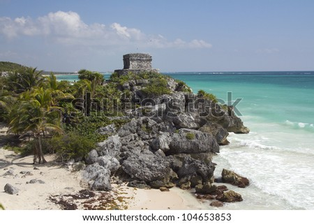mayan ruins at tulum, mexico. the mayans believe that transformative events will occur on 21 december 2012
