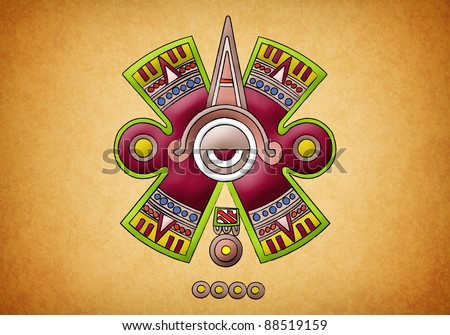 Mayan symbol on texture background