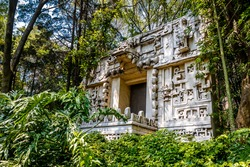 Mayan Temple at Anthropology Museum - Mexico City, Mexico