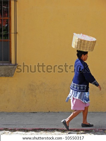 Mayan Woman with Basket