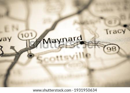 Maynard. Kentucky. USA on a geography map Zdjęcia stock ©