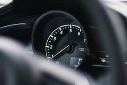 Mazda 3 car dashboard speedometer