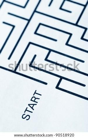 maze, business concept of problem