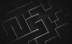 maze in black and white background