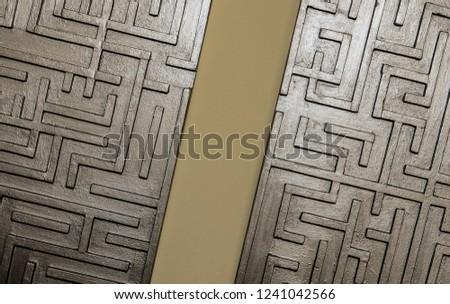 Maze labyrinth wooden made