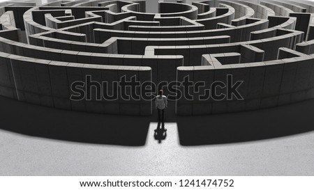 maze of conceptual money security and wealth success creation overcoming complex financial regulation and the taxation labyrinth - 3D illustration rendering