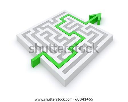 Maze puzzle right path