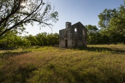 McKinney Homested Ruins at McKinney Falls State Park in Texas