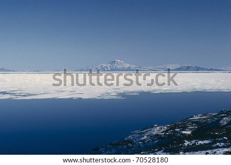 McMurdo Bay Antarctica at the end of Summer