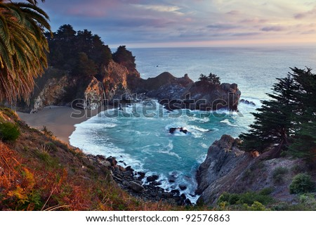 McWay Falls. McWay Falls at Julia Pfeiffer Burns State Park Big Sur California