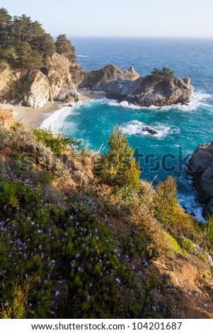 Mcway falls - Pacific coast highway in spring