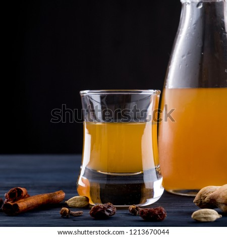 Mead alcohol drink with spices