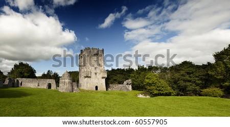 Meadow Square in Dublin Castle (Ireland) - stock photo