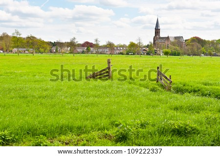 Meadows on the Outskirts of a Small Dutch Town