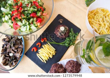 Meal for menu