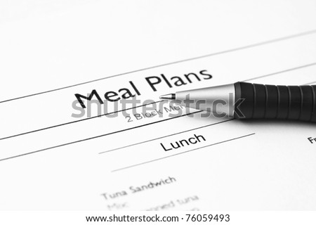 Meal plan - stock photo