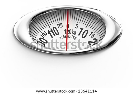 Measure scale isolated on white