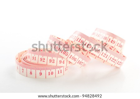 measure tape on a white background