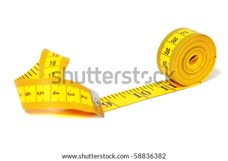 Measure tape over white