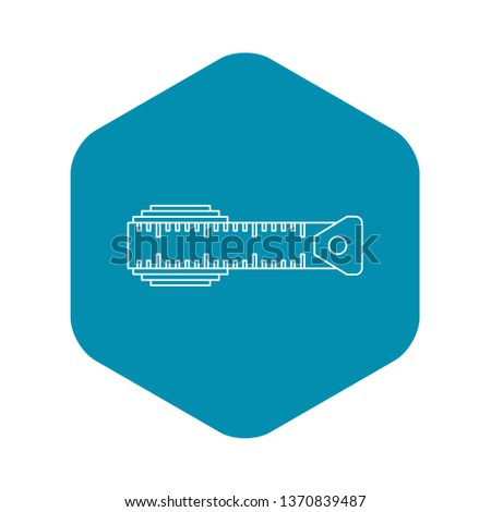 Measuring centimeter icon. Outline illustration of measuring centimeter icon for web