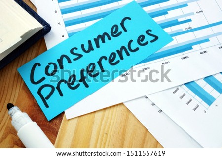 Measuring Consumer Preferences concept. Stack of papers with charts. Zdjęcia stock ©