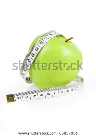 measuring meter and diet apple