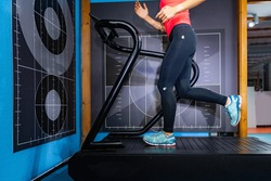 Measuring Running. 3D Camera Used to Record and Analyse Running on Treadmill