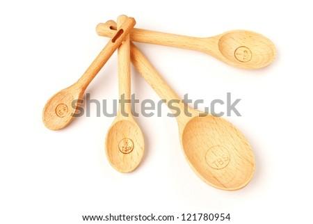Measuring spoon on white background