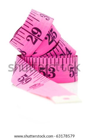 Measuring tape Inch scale isolated on white background