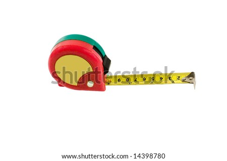 Measuring tape (isolated on white)