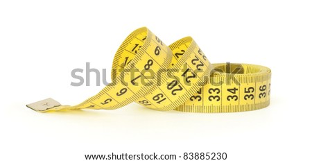 measuring tape isolated on white