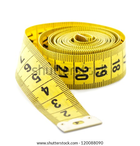 Measuring tape isolated on white background #120088090
