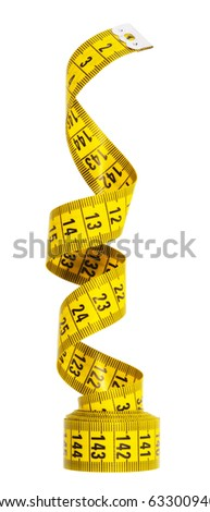 measuring tape,isolated on white with clipping path.
