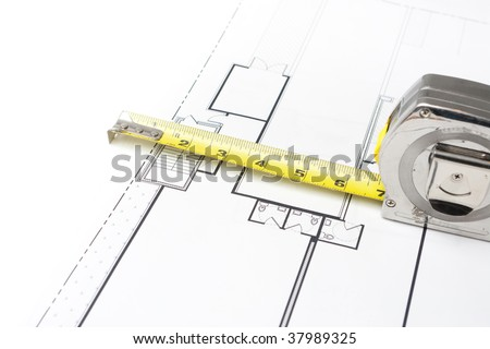 Measuring Tape on Floor Plans