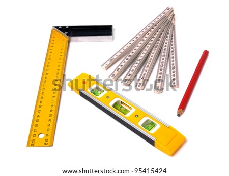 measuring tools isolated on white