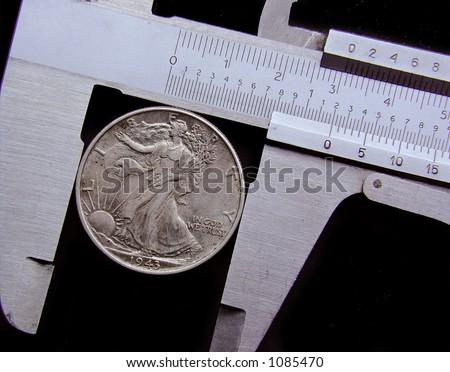 Measuring your money, literally. Walking Liberty Half Dollar