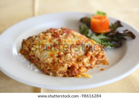 Meat and Cheese Lasagna - stock photo
