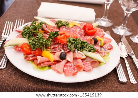 meat appetizer - stock photo