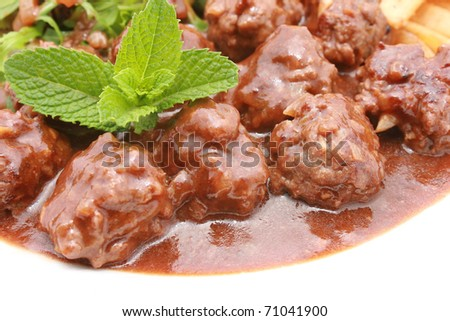 Meat Balls with sauce