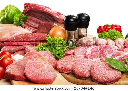 Meat, Butcher\'s Shop, Raw.