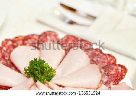 meat on the plate