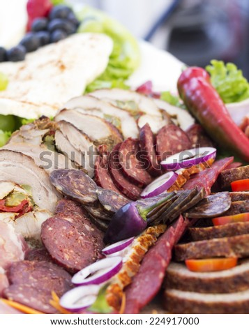 Meat products with hot pepper Stock photo ©