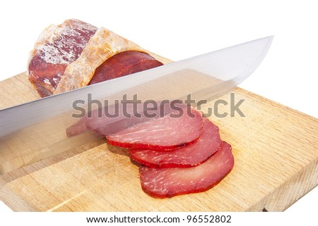 meat sausage isolated on white background