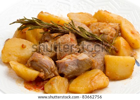 meat stew with potato