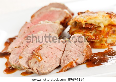 meat with vegetable pancakes
